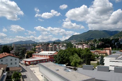 Chiasso, Switzerland, view from my balcony in Summertime